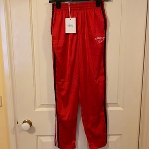 Stussy Swift pants size 6 in a silk red material